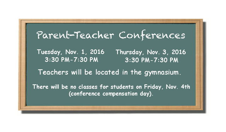 Parent teacher conferences chalk